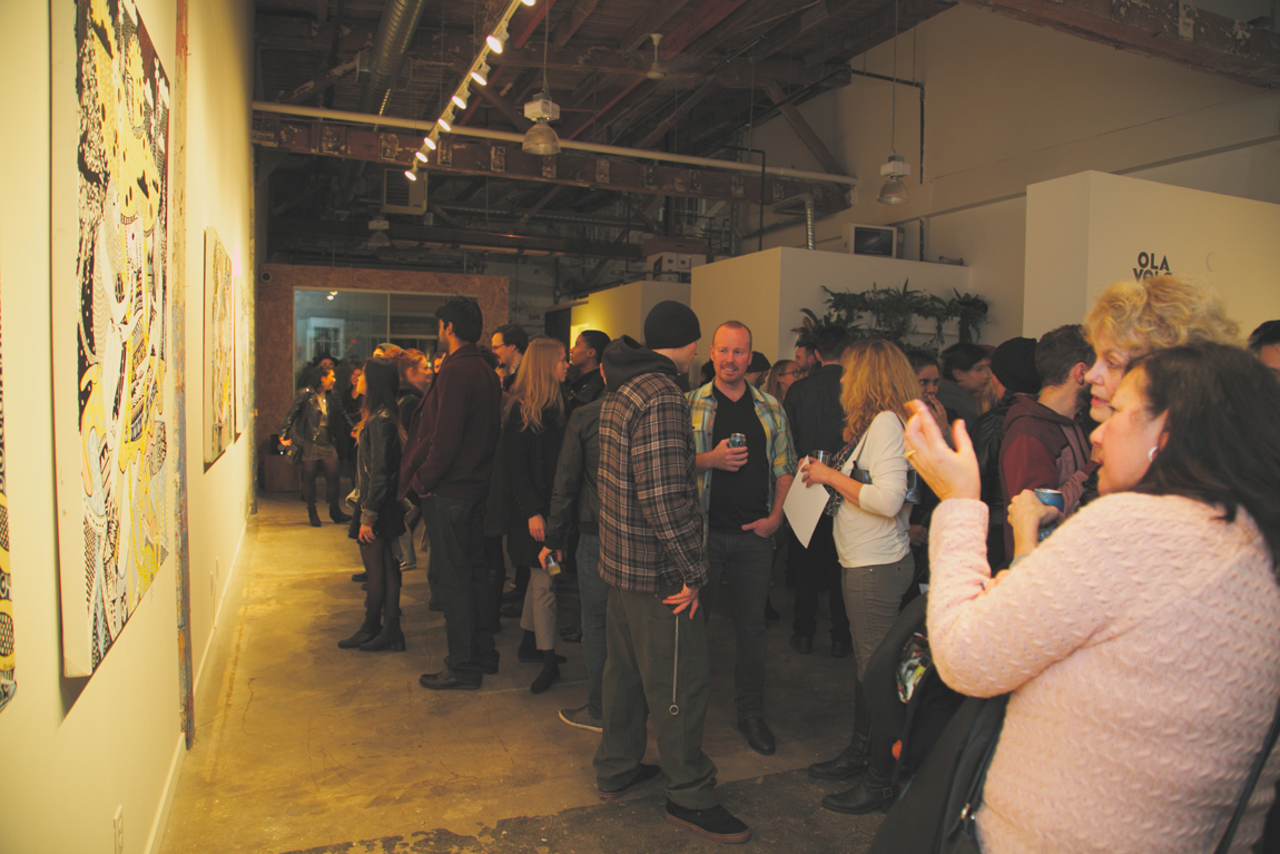 Ola Volo Solo Show (lo) at MAKE, Vancouver BC, 2015. Ravi Gill photo for VANDOCUMENT