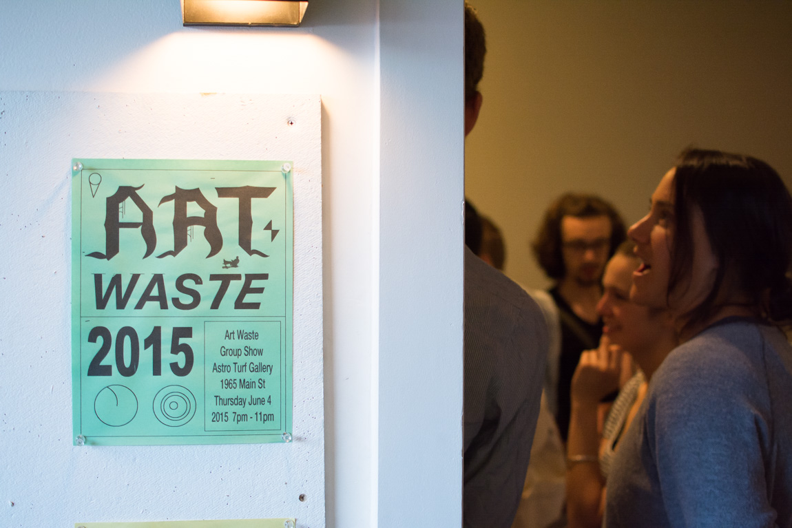 "Art Waste ""In Dreams"" @ Astro Turf, Vancouver BC, 2015. Photo by Ash Tanasiychuk for VANDOCUMENT"