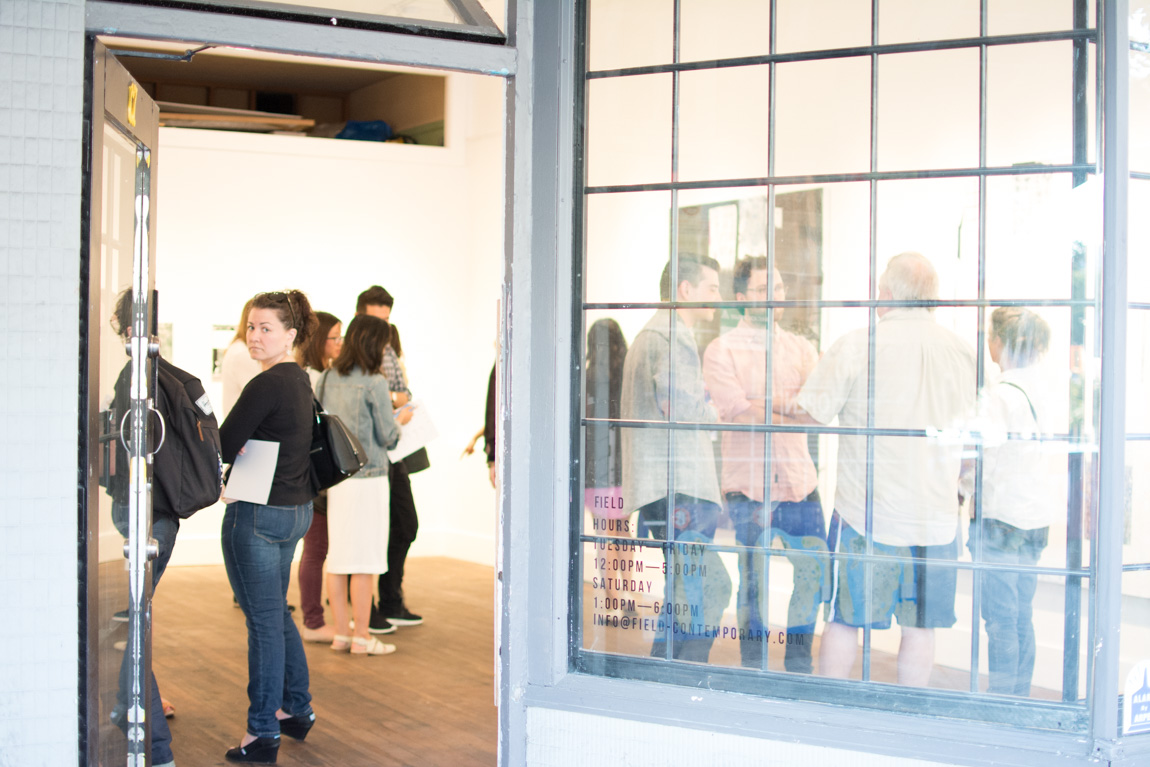 """Russell Leng """"Too Many Maps"""" opening at FIELD Contemporary, Vancouver BC, June 2015. Ash Tanasiychuk photo for VANDOCUMENT"""