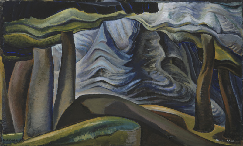Emily Carr, Deep Forest, c. 1931, oil on canvas. Collection of the Vancouver Art Gallery, Emily Carr Trust. Photo by Trevor Mills, Vancouver Art Gallery.