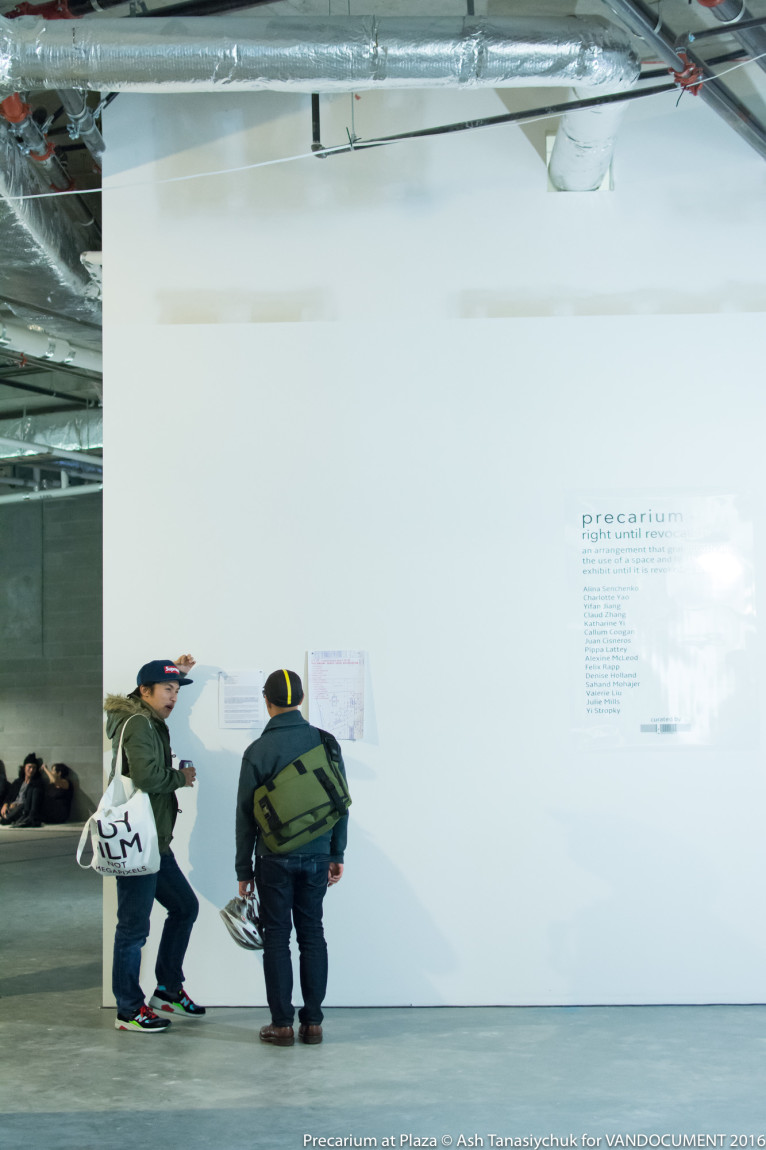 Precarium - Right Until Revocation opening exhibition at Plaza Projects. Photo by Ash Tanasiychuk