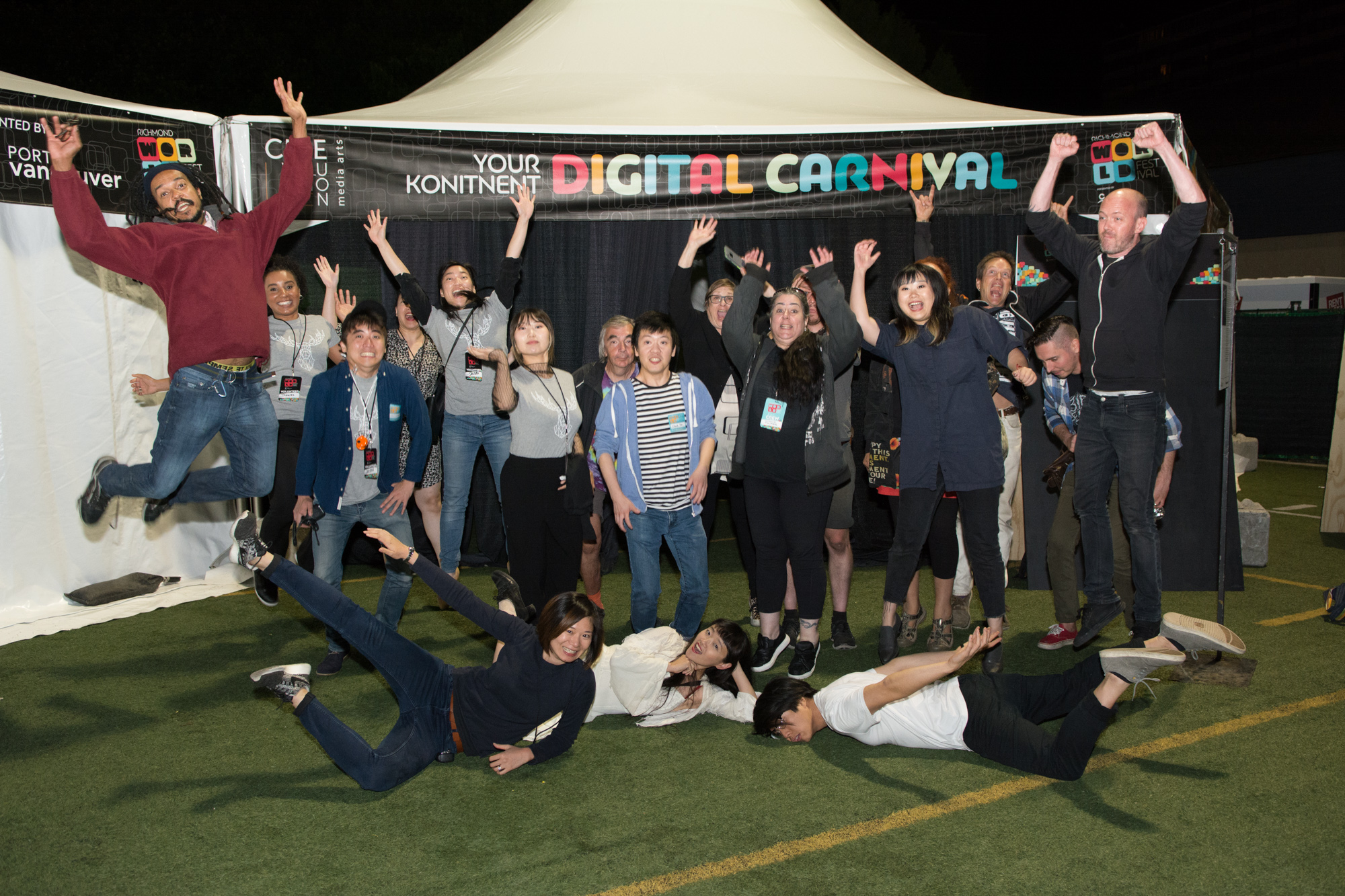 Artists at Digital Carnival, 2017. Ash Tanasiychuk photo