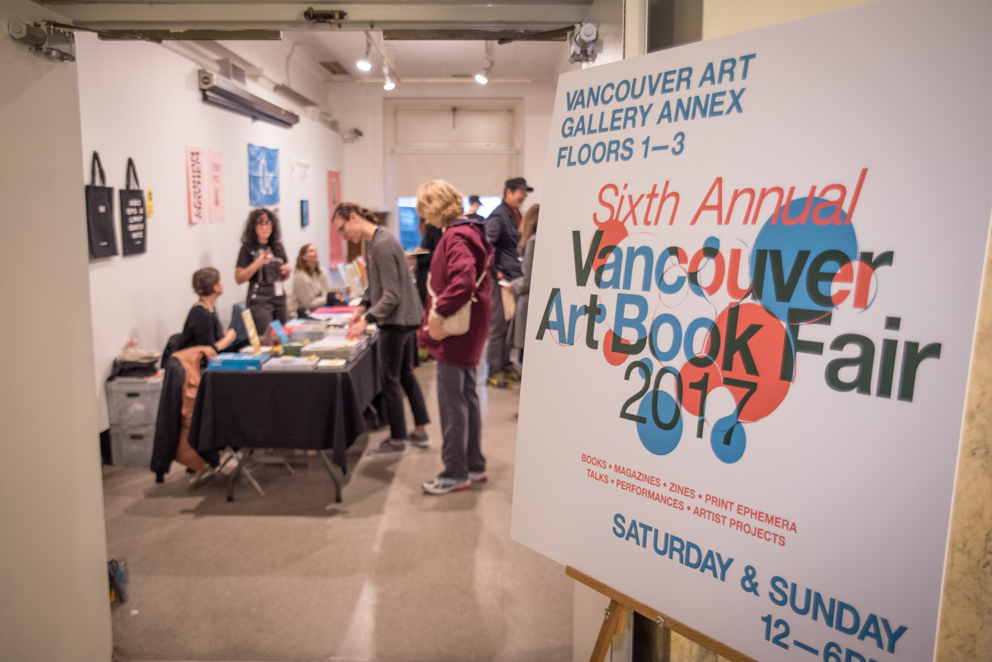 Vancouver Art Book Fair 2017. Photo by Rennie Brown