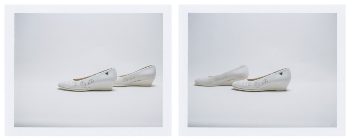 Barb Choit, Pair Diptych #4, 2017, Fujifilm FP-100c instant film, 2 prints, each 3.25 x 4.25 inches. Image courtesy of the artist.