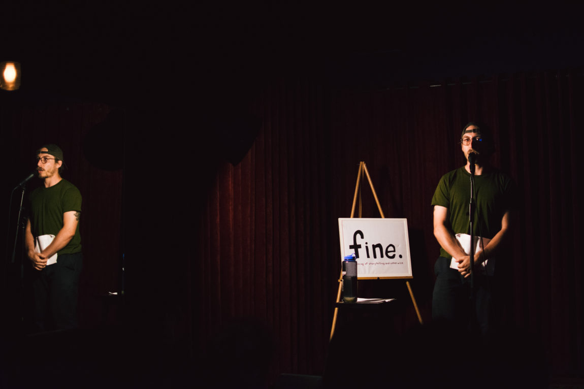 Host Cole Nowicki at Fine at The Lido, July 2019. Photo by Xinyue Liu.