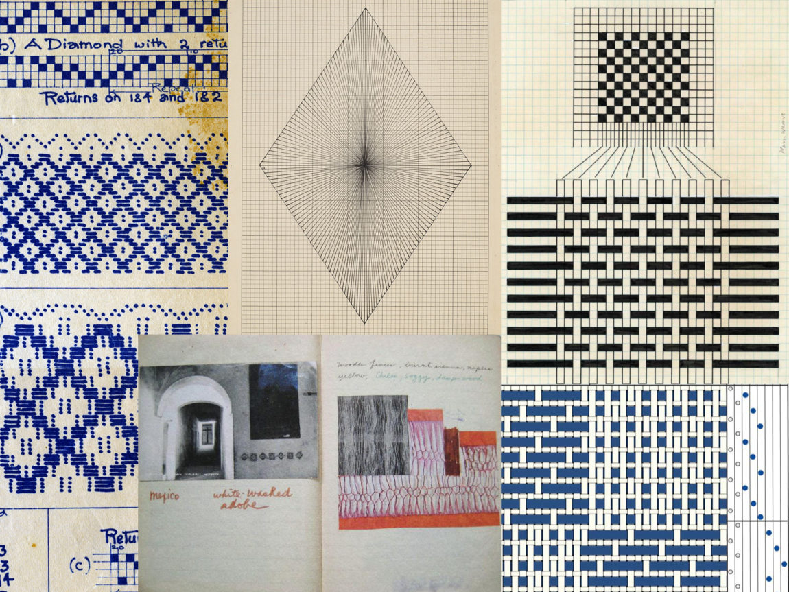 Drafts and Drawings by Mary Meigs Atwater, Lenore Tawney, Anni Albers, Madelyn Van Der Hoogt, and Sheila Hicks